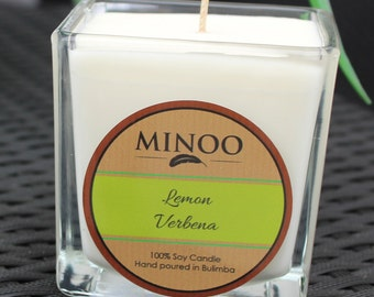 100% soy Medium clear glass candles
