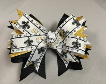 New Orleans Saints Hair-Bow