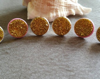 Cabochon earrings, earring collection, druzy earring set, blue earrings, ear stud set, druzy ear studs, druzy earrings, cabochon jewellery