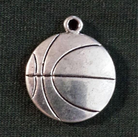 Basketball Charm Bracelet: Basketball Charm/ Basketball Bracelet Charm/ Lot Of 5