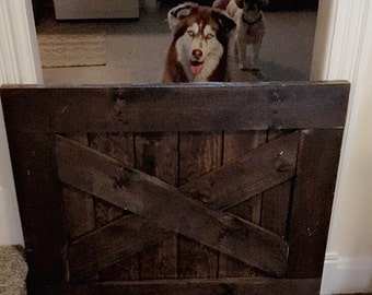 Barn Door Baby Gate - Rustic Baby Gate - Safety Gate - Pet Gate - Dog Gate - Baby Gate - Security Gate - Interior Gate