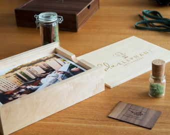 Engraved Maple Photo Box