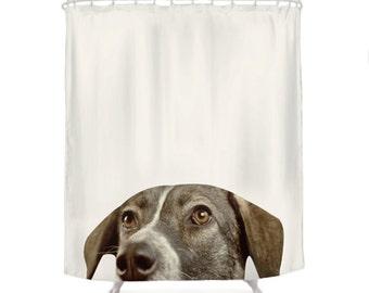 Dog Shower Curtain, Decorative Shower Curtain, Animal Photo, Bathroom Shower  Curtain, Hidden