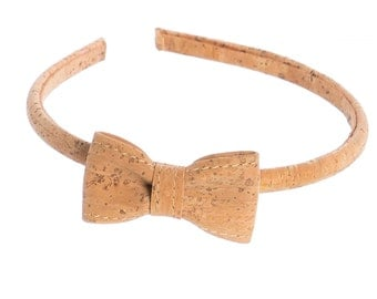 Cork bow tie headband