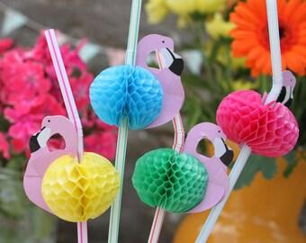 12 Flamingo Party Strohhalme.  Alice im Wunderland Party Supplies, Bachelorette Party-Dekor