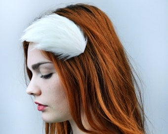 Ivory Bridal Feather Fascinator Hair Clip with Swarovski Crystal Option | Bridal Hair Clip | Feather Hair Clip | Wedding Accessory | Bride