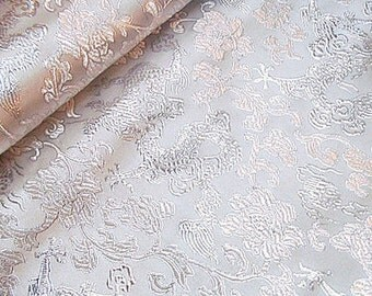 """chinese  traditional golden double colors dragon tapestry satin jacquard brocade fabric one yard 29""""wide"""