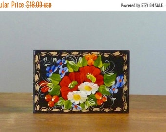 SALE Jewelry box - Hand painted box - Wooden jewelry box - Trinket box- Keepsake box - Gift for her - Jewelry storage - Ring box - Ready to