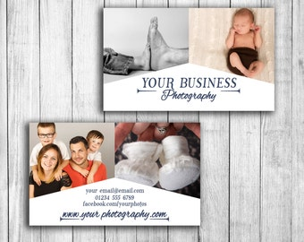 Photography business card template, wedding photographer, business card design, portrait photo marketing, customisable photoshop templates