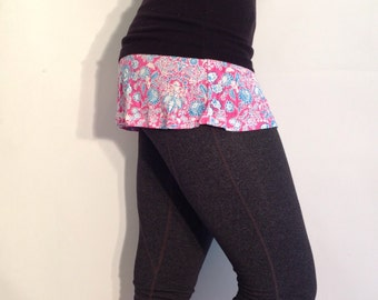coveRumps, layering skirt, women's accessory, athleisure, active wear, yoga pants, leggings, cover up, skirted leggings, skirts