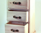 Wood crafts Unfinished wood Dollhouse furniture Dollhouse miniature furniture Wooden chest Wooden drawer Small drawers Mini chest of drawers