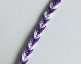 Shades of Purple - Braided Bracelets - Handmade