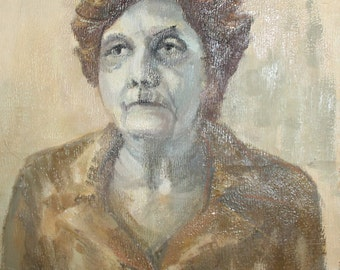 Oil painting vintage woman portrait