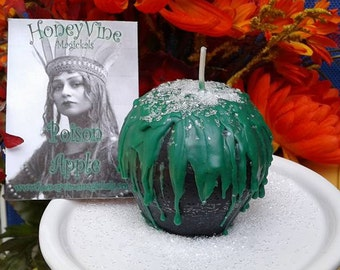 Poison Apple Candle Samhain Halloween Hallowmas Candied Apple Salted Caramel