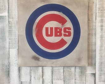 On Sale!! Chicago Cubs Distressed Sign