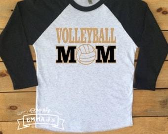 Custom made shirt, volleyball mom, sport, volleyball, baseball shirt, custom colors