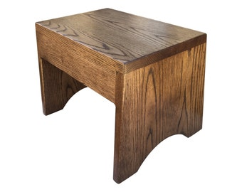 "Wood Step Stool, Extra Tall 10"" in Espresso Finish by Candlewood Furniture"