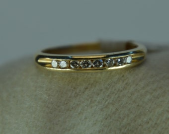 Channel Set Diamond Band - 14k Yellow Gold .25 ct total weight Size 7.5