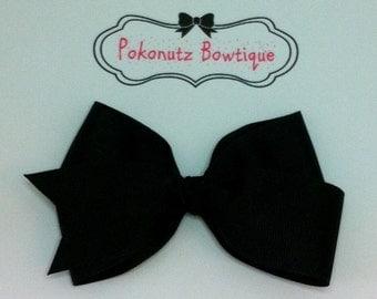 Black Boutique Hair Bow, Black Hair Bow, Boutique Hair Bow, Hair Bows, Girls Hair bows, Girls Boutique Hair Bows, Toddler Boutique Hair Bow