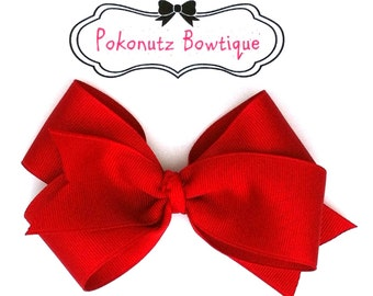 Red Boutique Hair Bow, Red Hair Bow, Girls Red Hair Bow, Toddler Red Hair Bow, Baby Hair Bows, Infant Hair Bows, Hair Bows, Girls Hair Bows