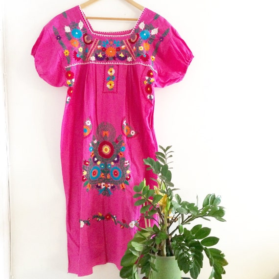 Perfect Women Ethnic Vintage Mexican Floral Embroidered Boho Peasant Casual