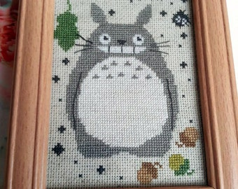 Soot Sprites and Totoro - Cross Stitch Pattern!