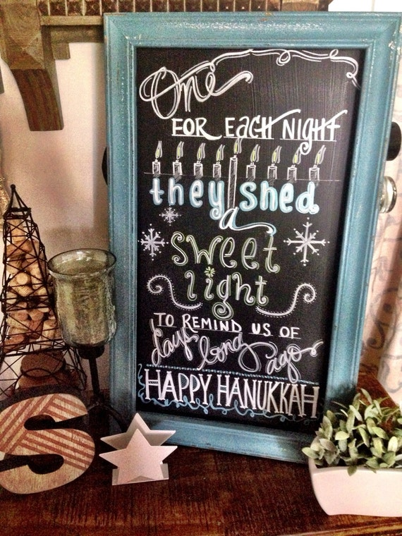 Hanukkah Home Decor Chalkboard Display