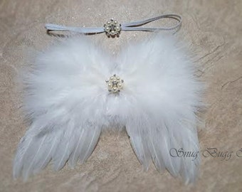 Soft Sweet White Feathers Angle Wing | New Born Photo Prop | Baby Wing | Baby Wing Gift