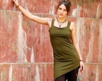 Straps cotton Lycra dress