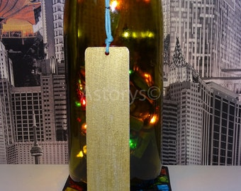 Silver & Gold Hand Painted Wooden Bookmark