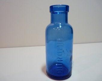 Round Cobalt Blue Bottle