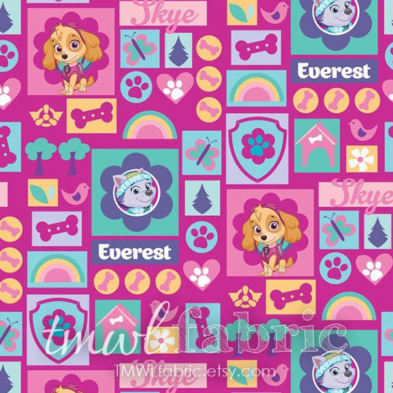 Paw Patrol Fabric By The Yard Images