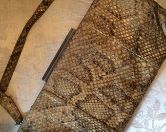 40's clutch bag in real snakeskin. 12 insx6. Genuine vintage.