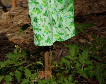 """Boys Nature Overalls - """"It's not easy being green"""".  With frogs, turtles and Gecos."""