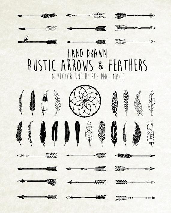 Dream Catcher Feather Clipart Arrow Clipart Tribal Boho