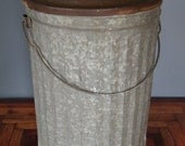 Farm Fresh Galvanized Bin with Lid