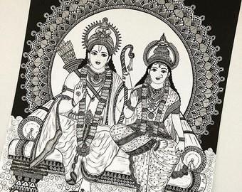 Rama Sita art print