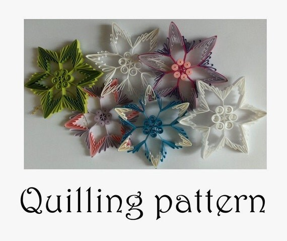Star Quilling pattern Paper QuillingTutorial by Quillings4U