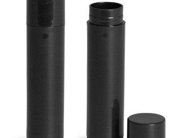 Empty Lip Balm Tube .15oz, white, black, or natural set of 100