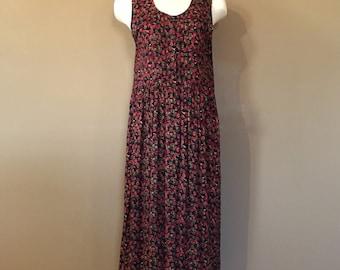 90's Vintage Grunge Dress / 90's Dress / 90s Clothing  / Vintage 90's Floral Grunge Dress / Oversized Grunge Dress / 90s Grunge / Medium