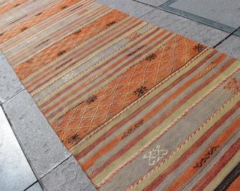 Traditional Handmade Anatolian Wool Kilim Rug Runner