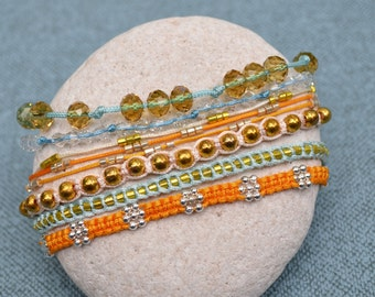 Unique, handmade bracelets stack
