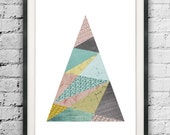 Geometric Art, Triangle Print, Scandinavian, Triangle Printable, Nordic Design, Triangles Art, Modern Art Triangle, Minimalist, Abstract