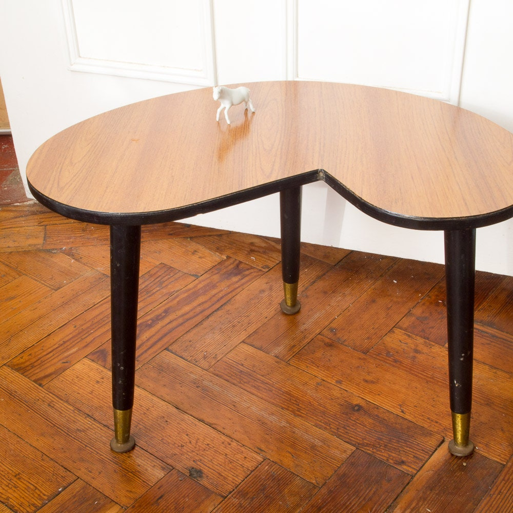 Retro 50s Kidney Shaped Side Table Coffee Table