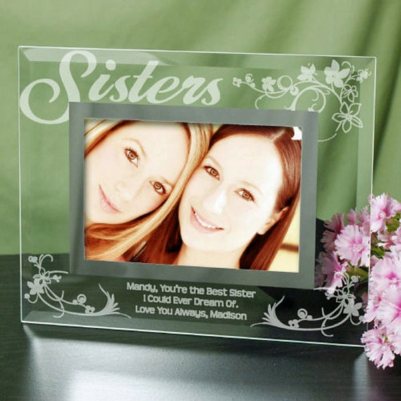 Gifts For Sister - Sister Present Ideas - Sister Gifts - Gift For Sister - Gift Ideas For Sister - Sister Gift Idea -8x10 (Holds 5x7 Photo)