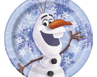 Frozen ''Olaf Winter'' Dessert Paper Plates 8ct