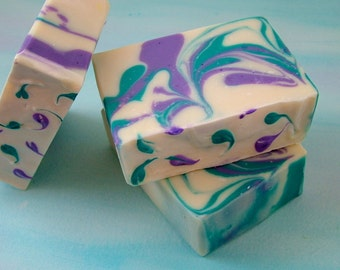 Lavender Soap made essential oils, Vegan Soap,  Natural Soap,  Hand Crafted Soap, Cold Process Soap
