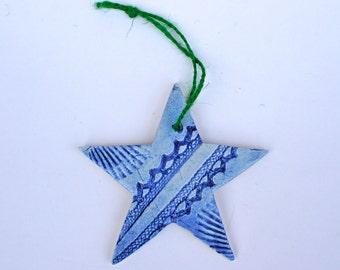 SUMMER SALE - Blue Star Ornament- Beach / Seaside - Ready to ship