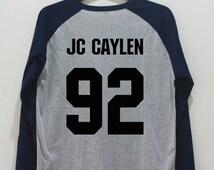 JC Caylen Shirt JC Caylen 92 Shirt Gray O2L TShirt Unisex Hipster T-Shirt Shirts Baseball Raglan Jersey Tee Navy Long Sleeve Women Men S M L