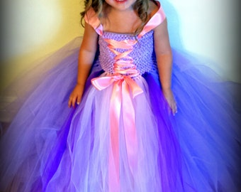 Tangled Inspired Princess Tutu Dress